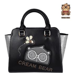 black leather designer handbags