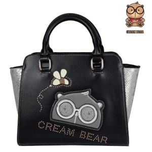 black leather designer handbags