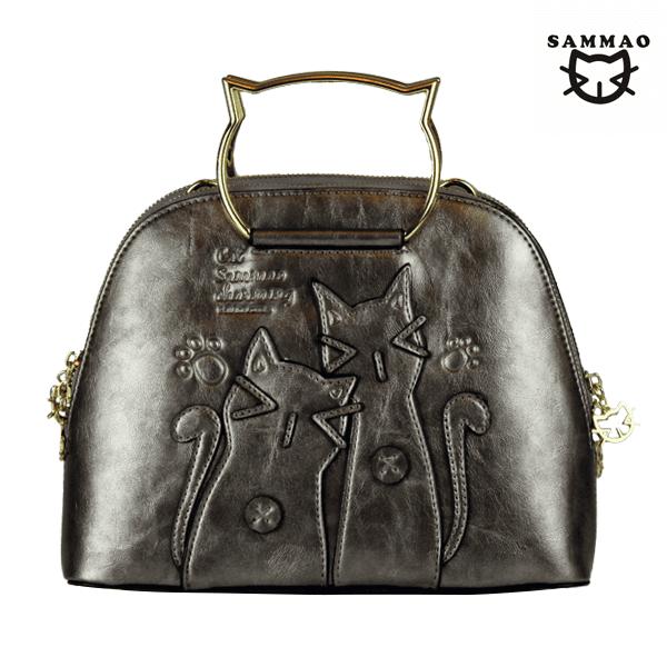 silver metallic leather handbags