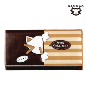 cream leather purse